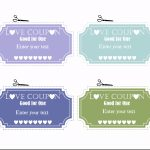 Free Editable Love Coupons For Him Or Her   Free Printable Coupons For Husband