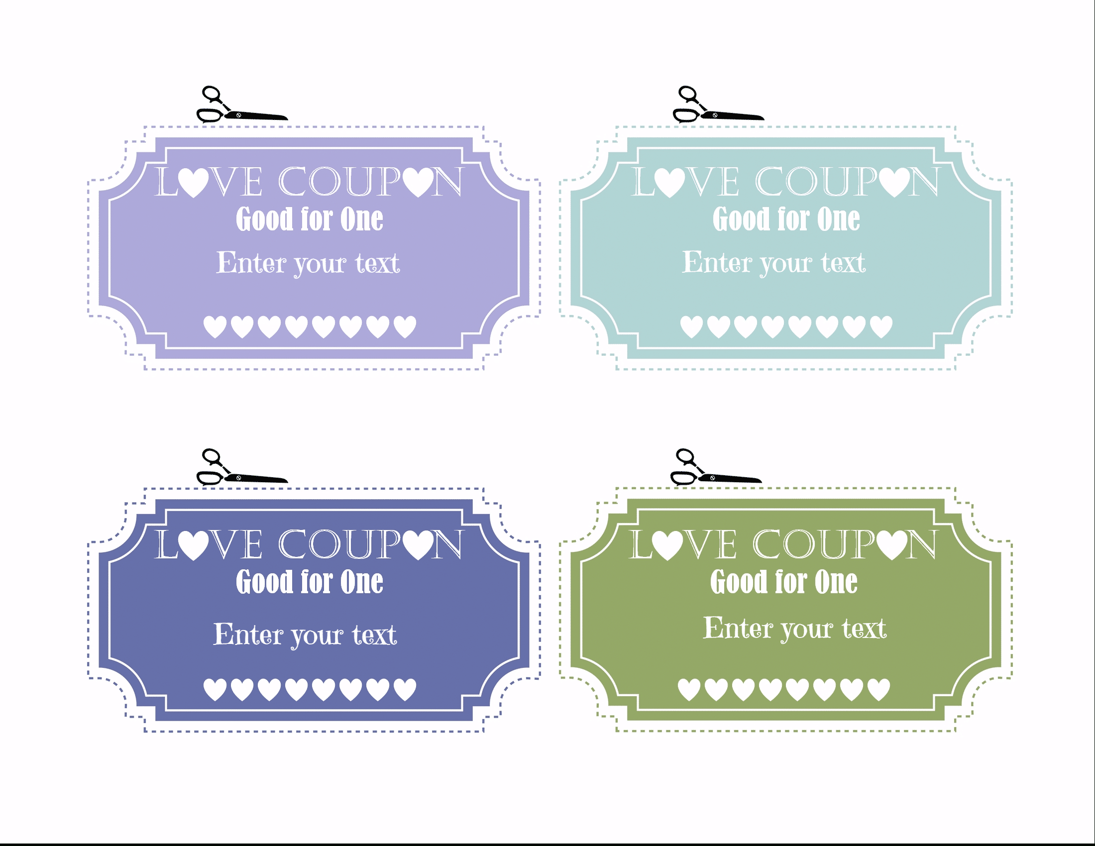 Free Editable Love Coupons For Him Or Her - Free Printable Coupons For Husband