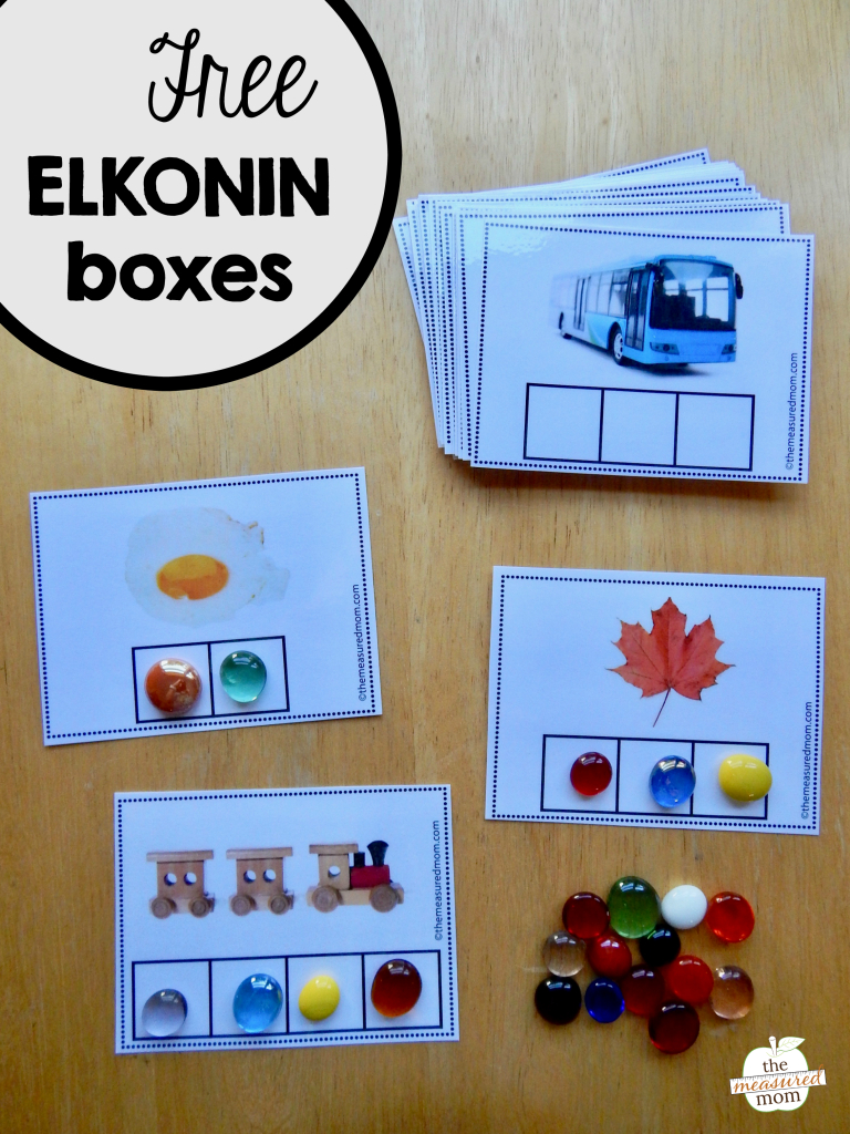 Free Elkonin Boxes - The Measured Mom - Free Printable Elkonin Boxes