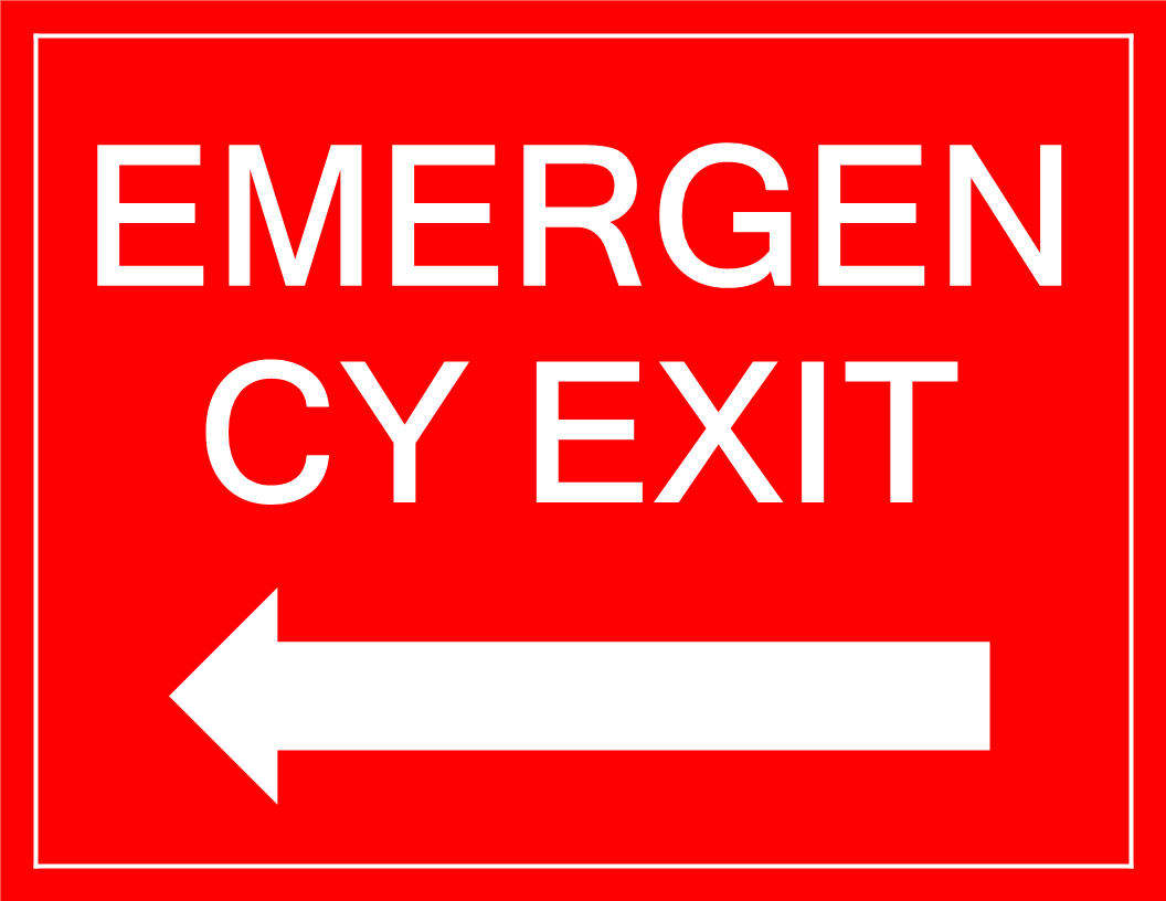 Free Emergency Exit Sign With Arrow | Templates At - Free Printable Exit Signs With Arrow