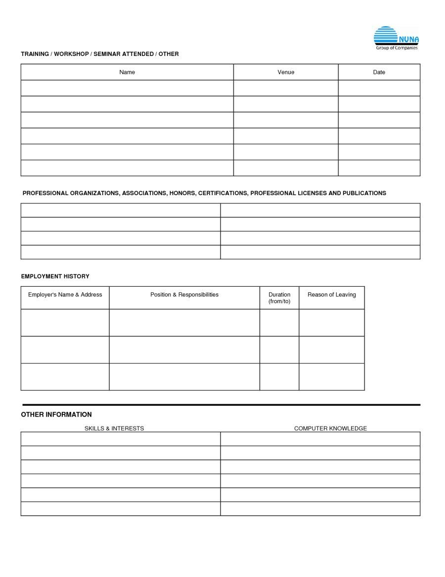 Free Employment Applications To Print | Job Application Form Sample - Free Printable Job Application Form Pdf