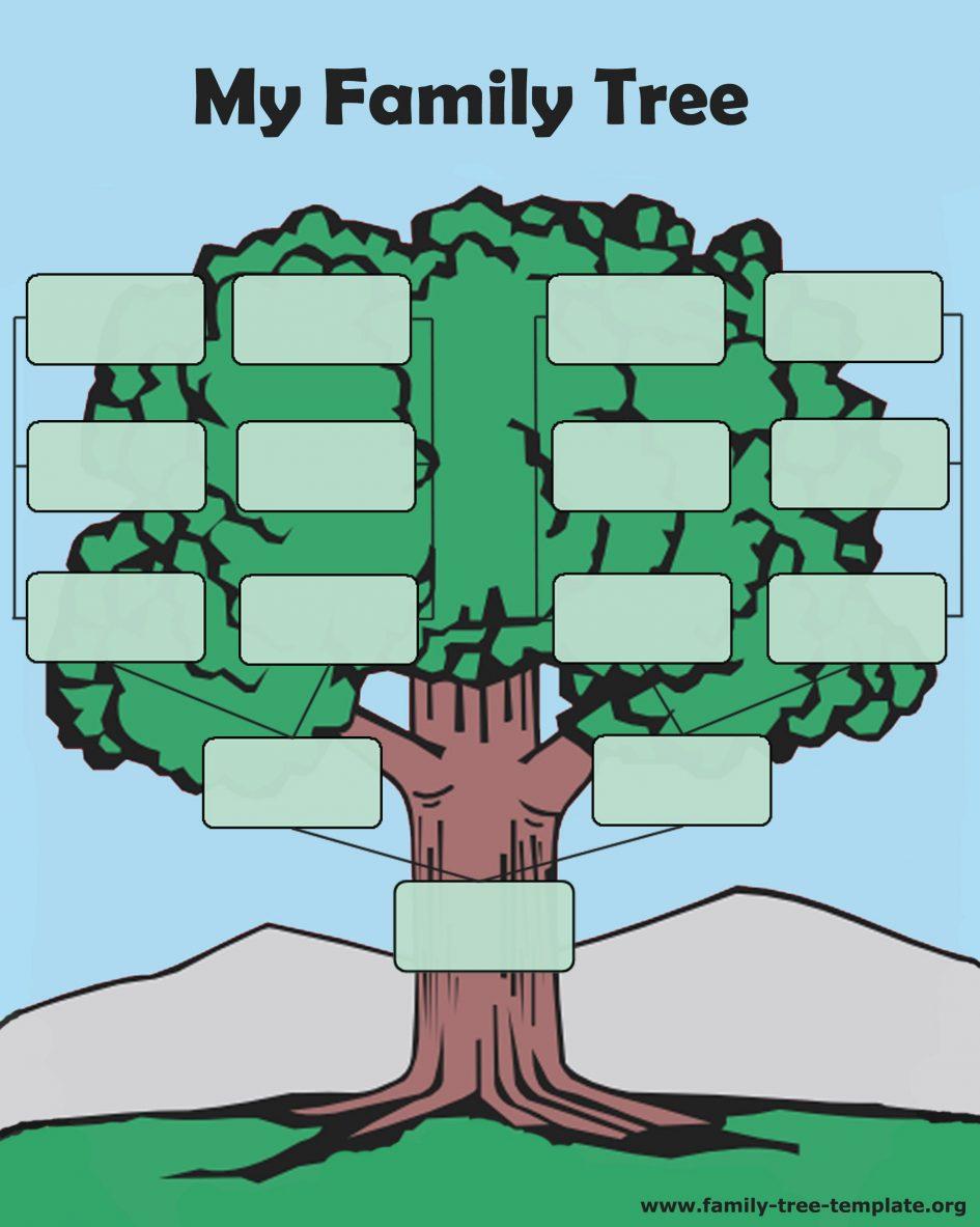 Free Family Tree. Blank Family Tree Charts To Print: Tree Forms - Free Printable Family History Forms