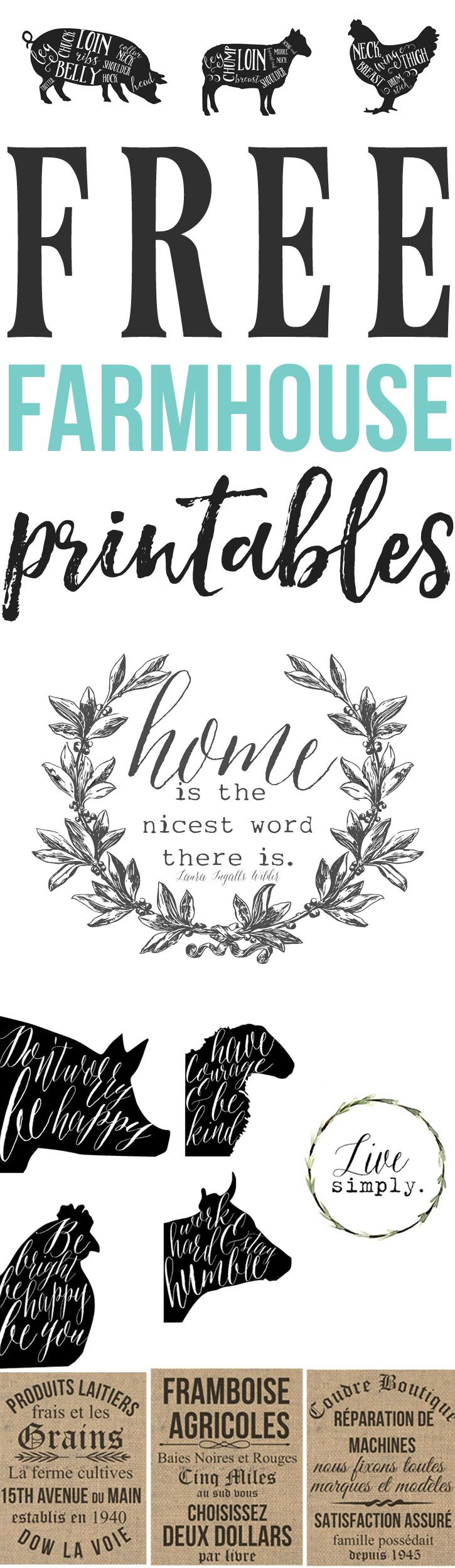 Free Farmhouse Printables For Your Home | Decorate :: Kitchen - Scan To Enter Sign Printable Free