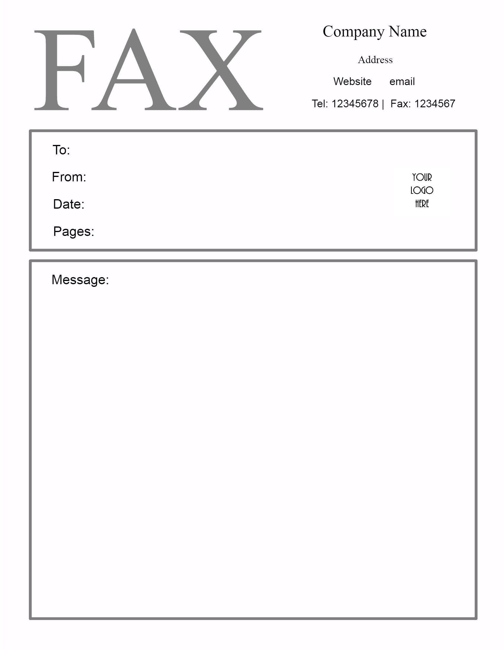Free Fax Cover Sheet Template | Customize Online Then Print - Free Printable Fax Cover Page