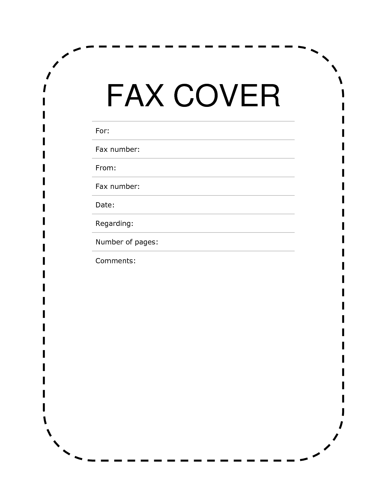Free Fax Cover Sheet Template Format Example Pdf Printable | Fax - Free Printable Fax Cover Sheet Pdf