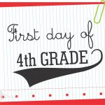 Free First Day Of School Printable Signs From Wcc Designs | Teacher   First Day Of Fourth Grade Free Printable