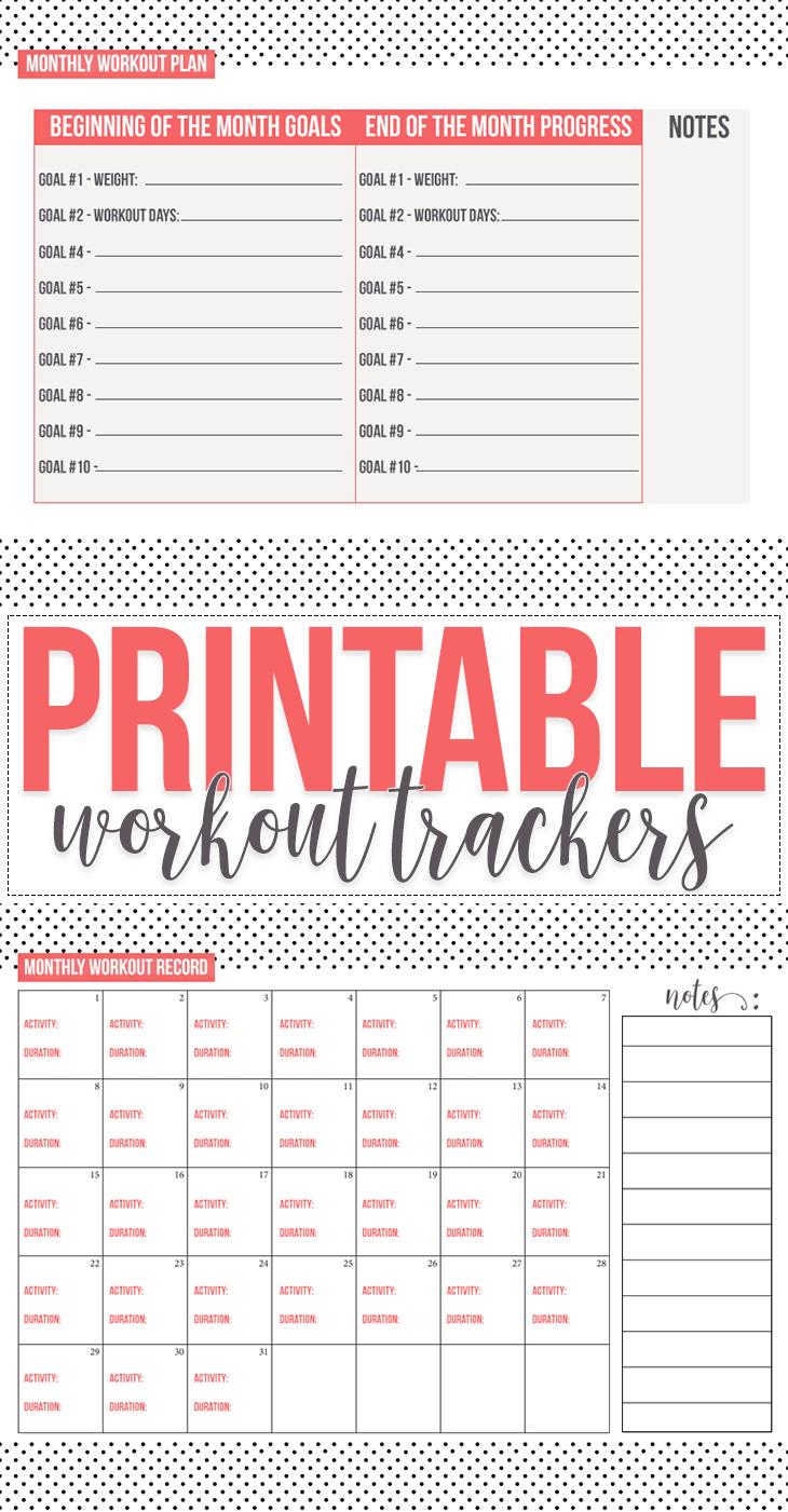 Free: Fitness Tracker Printables - Free Printable Fitness Tracker