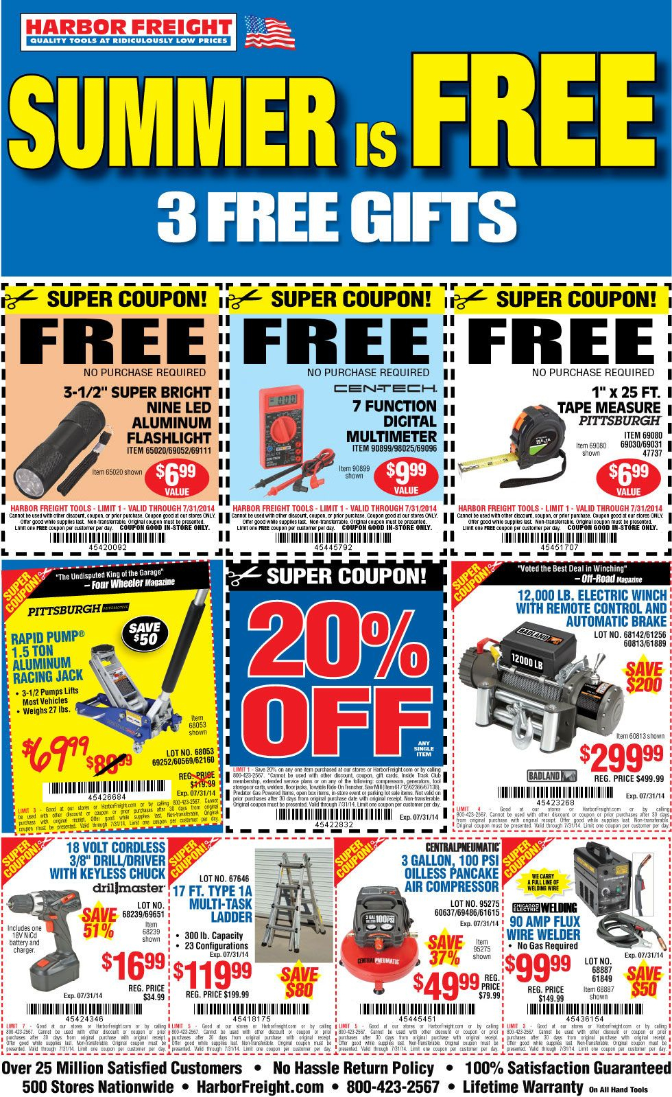 Free Flashlight, Multimeter And Tape Measure At Harbor Freight. | I - Free Sample Coupons Printable