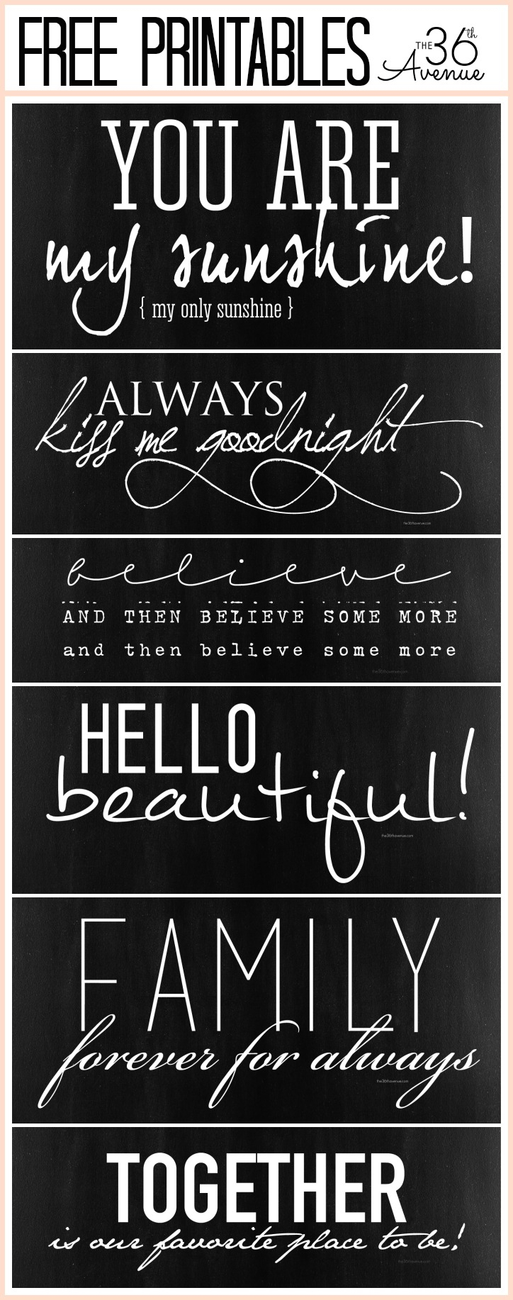 Free Fonts And Printable Combinations - The 36Th Avenue - Free Printable Fonts