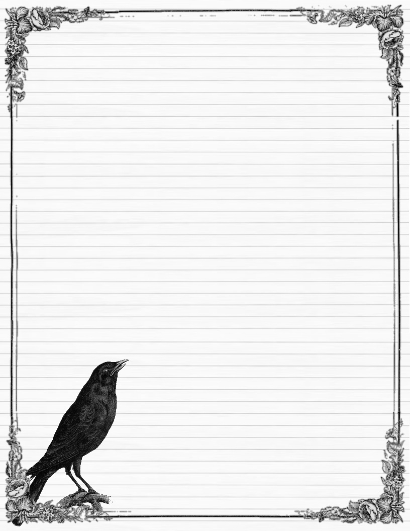 Free Free Printable Border Designs For Paper Black And White - Free Printable Halloween Stationery Borders