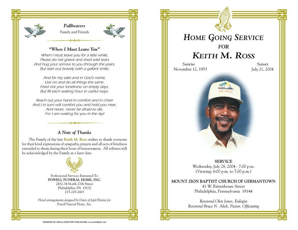 Free Funeral Program Templates | Funeral Program Sample Order Of - Free Printable Funeral Programs