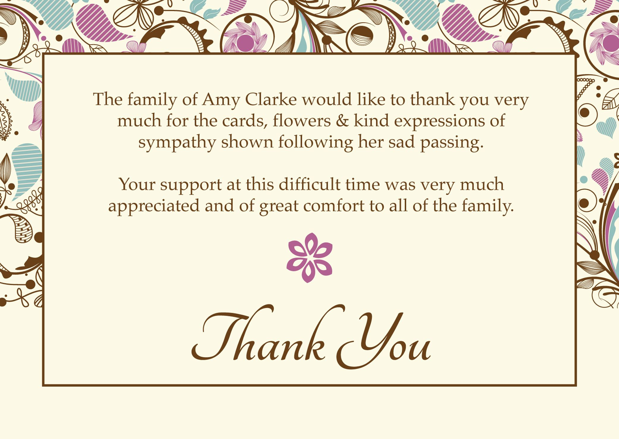 "Free Funeral Thank You Cards Templates Ideas | ""worth Knowing - Thank You Sympathy Cards Free Printable"