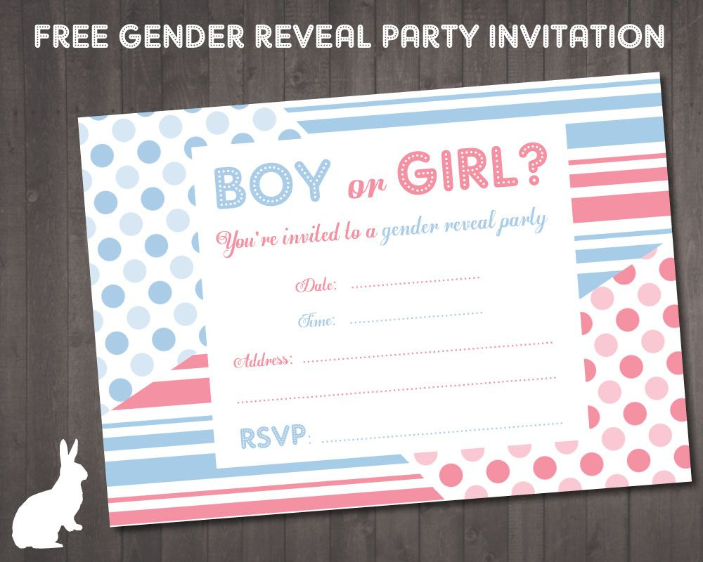 Free Gender Reveal Party Invitation | Ruby And The Rabbit | Kala - Free Printable Gender Reveal Templates