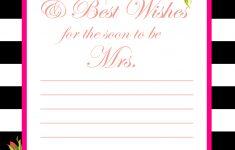 Free Printable Bridal Shower Advice Cards