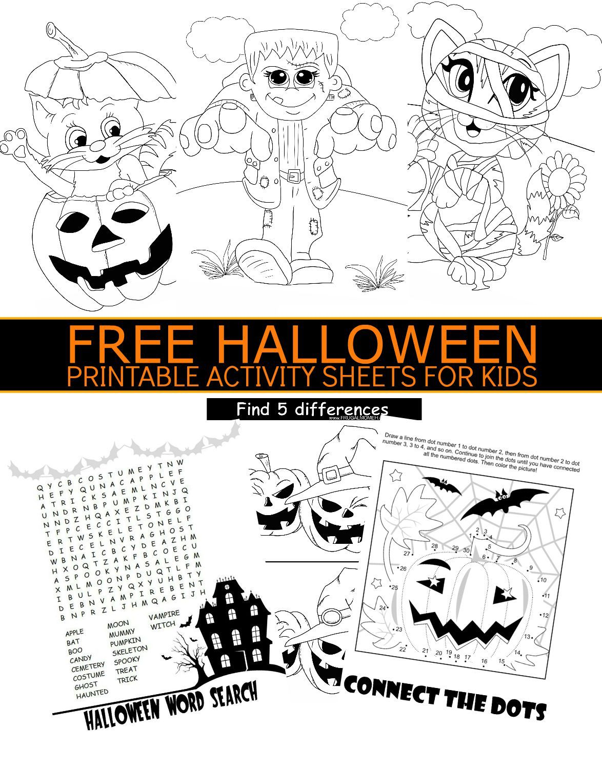 Free Halloween Printable Activity Sheets For Kids | Holidays - Free Printable Halloween Games For Kids