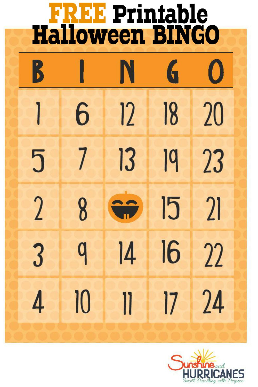 Free Halloween Printables - Bingo - Free Printable Bingo Cards With Numbers