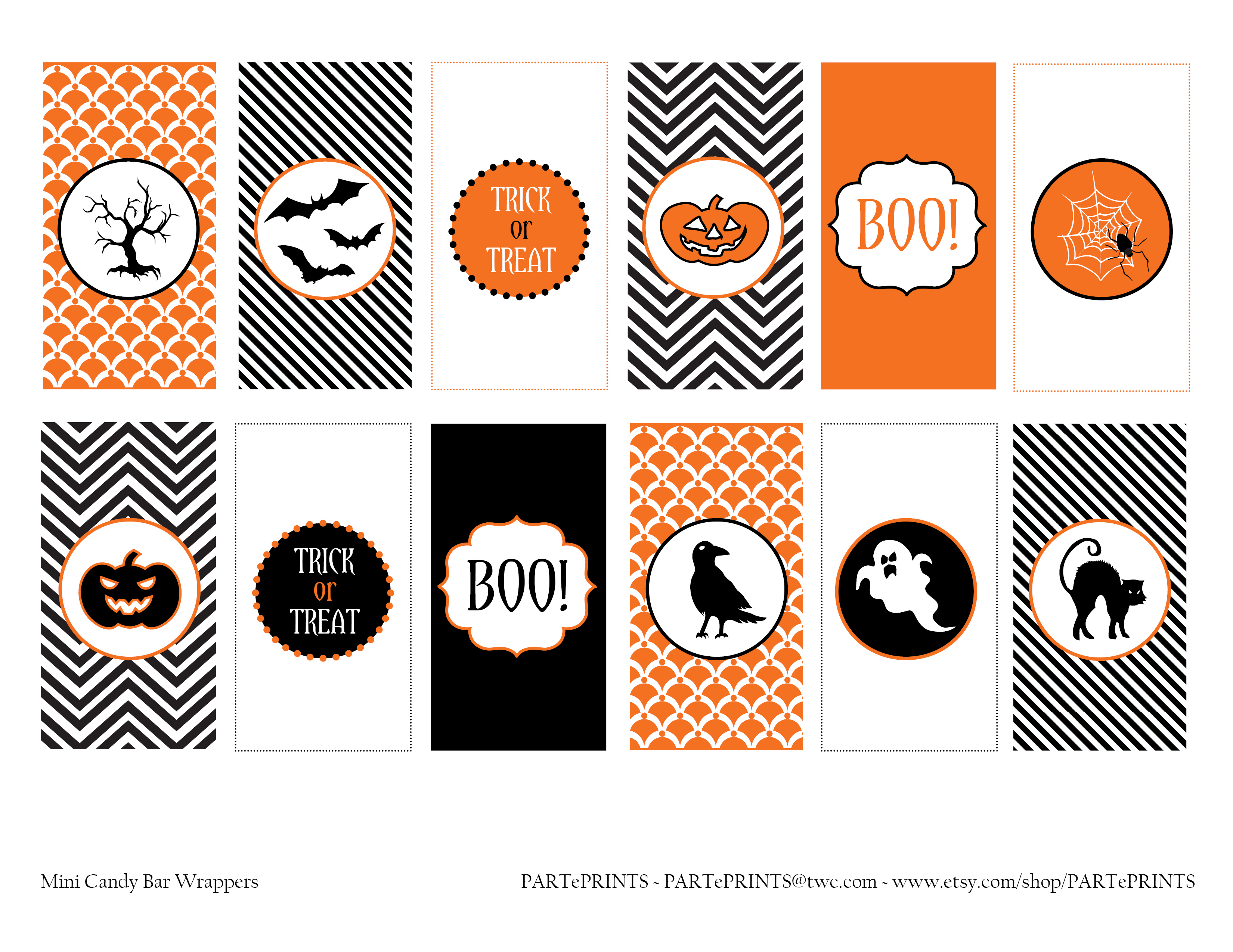 Free Halloween Printables From Parteprints | Catch My Party - Free Printable Halloween Banner Templates