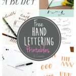 Free Hand Lettering Printables   Free Printable Calligraphy Letter Stencils