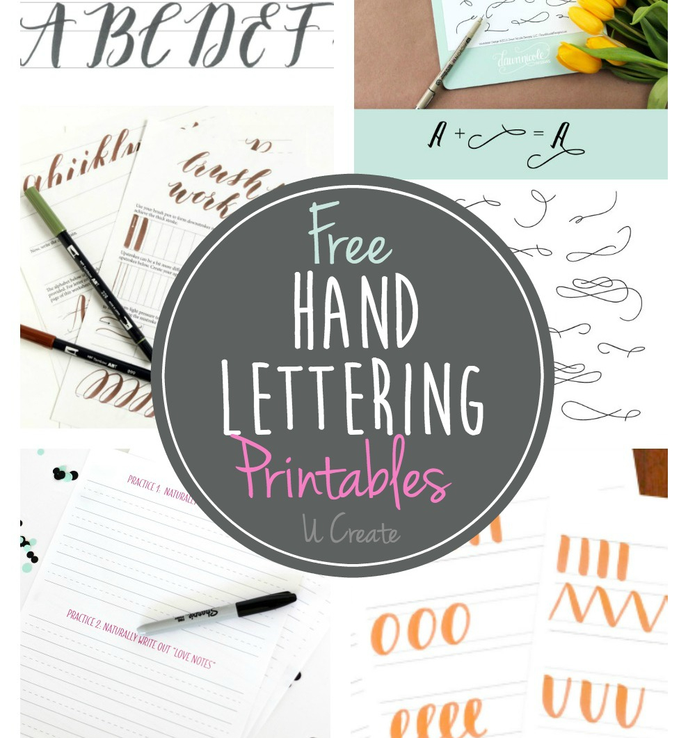 Free Hand Lettering Printables - Free Printable Calligraphy Letter Stencils