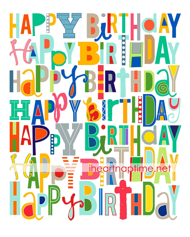 Free Happy Birthday Printable | Craft | Pinterest | Birthday, Happy - Free Printable Happy Birthday Signs