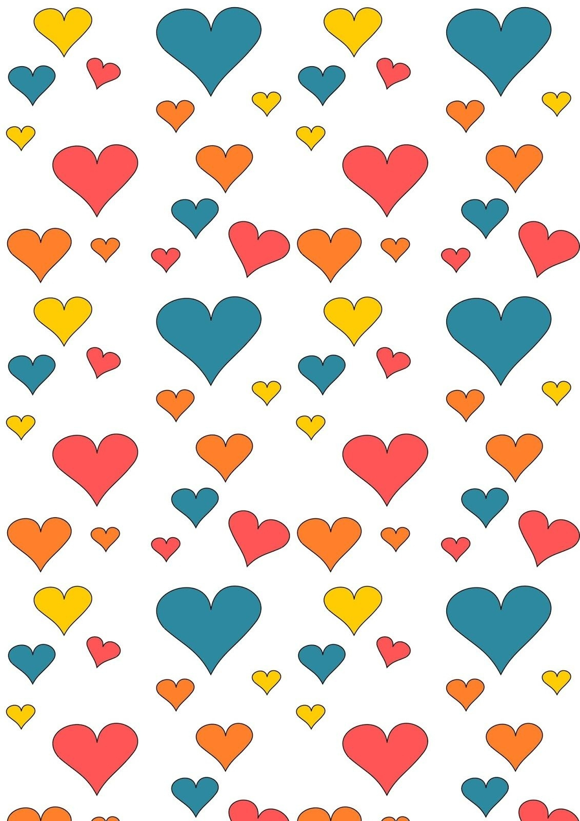 Free Hearts Pattern Paper. Would Be A Cute Idea For Above The Inside - Free Printable Wrapping Paper Patterns