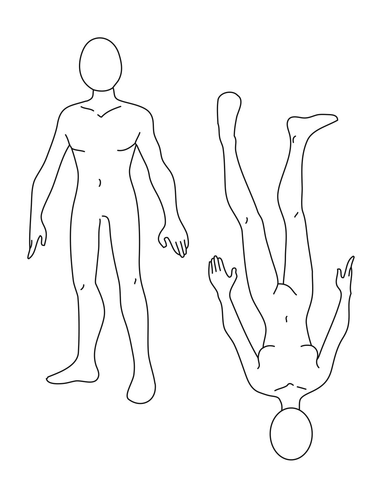 Free Human Body Outline Printable, Download Free Clip Art, Free Clip - Free Printable Human Body Template