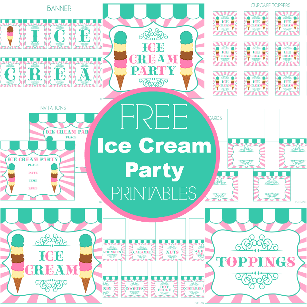Free Ice Cream Party Printables From Printabelle Perfect For - Ice Cream Party Invitations Printable Free