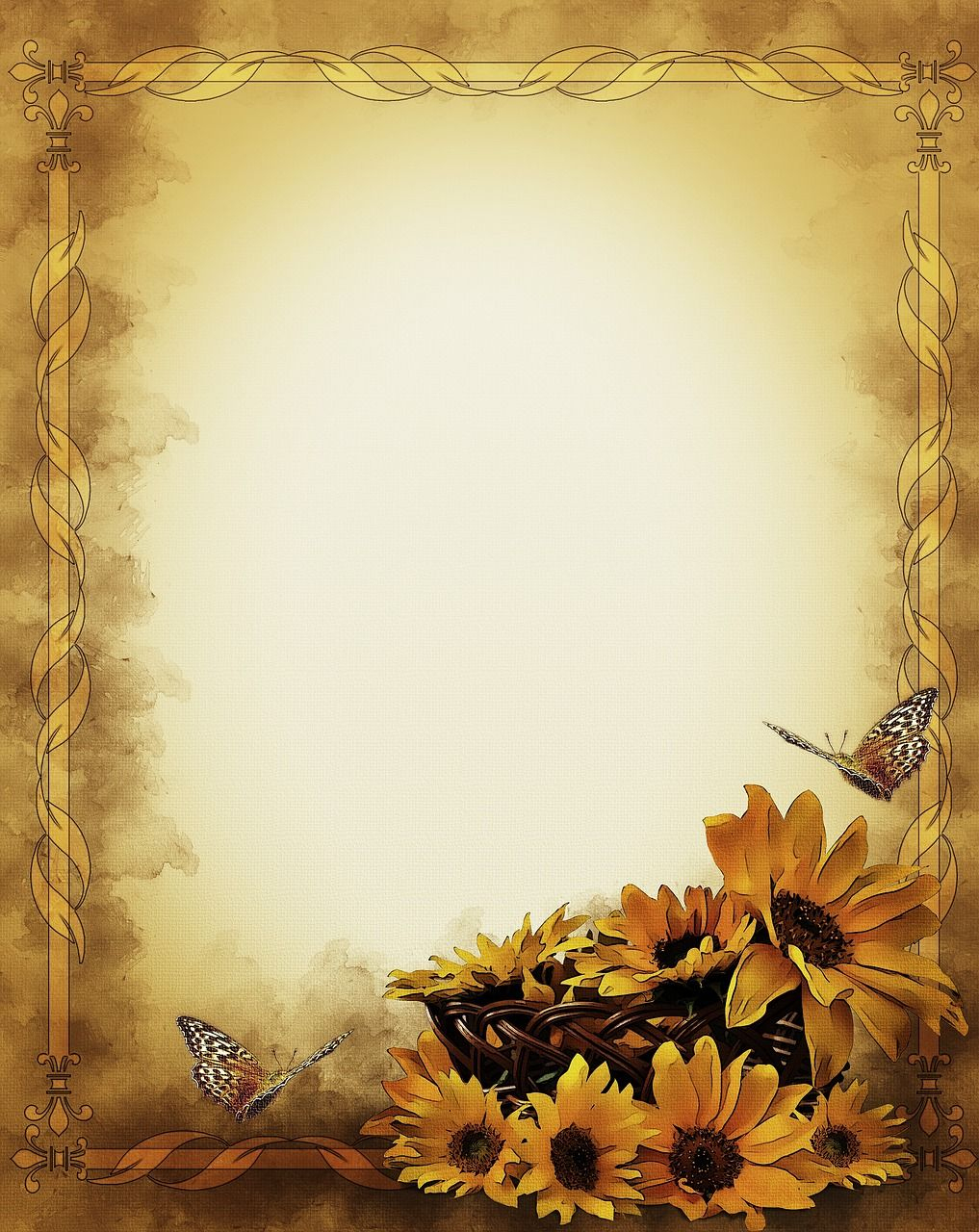 Free Image On Pixabay - Sunflowers, Still Life, Frame | Sunflowers - Free Printable Sunflower Stationery