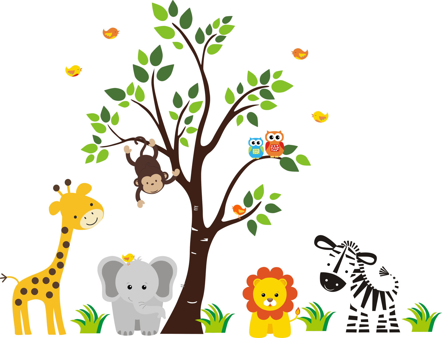 Free Jungle Animals, Download Free Clip Art, Free Clip Art On - Free Printable Baby Jungle Animal Clipart