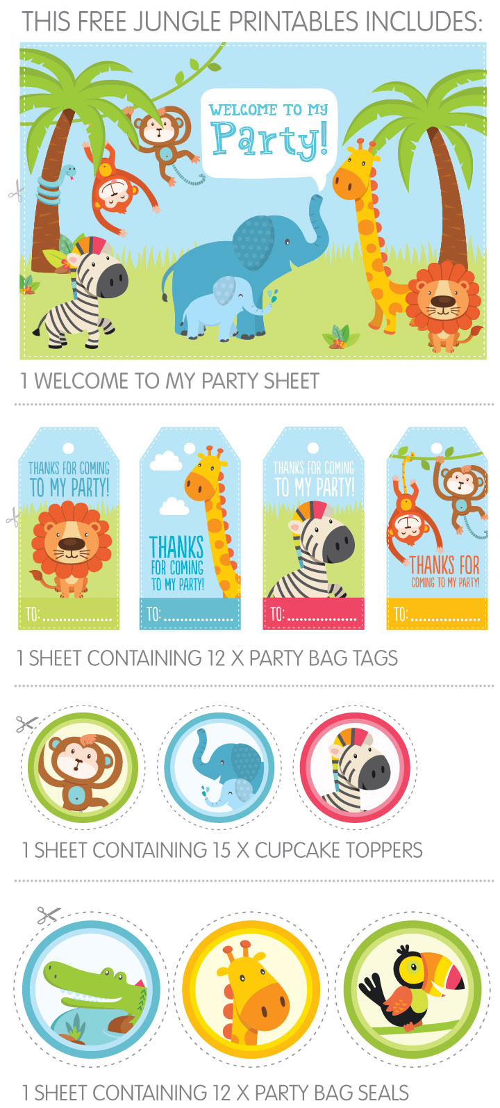 Free Jungle Party Invitation Printables - Free Printable Animal Print Birthday Invitations
