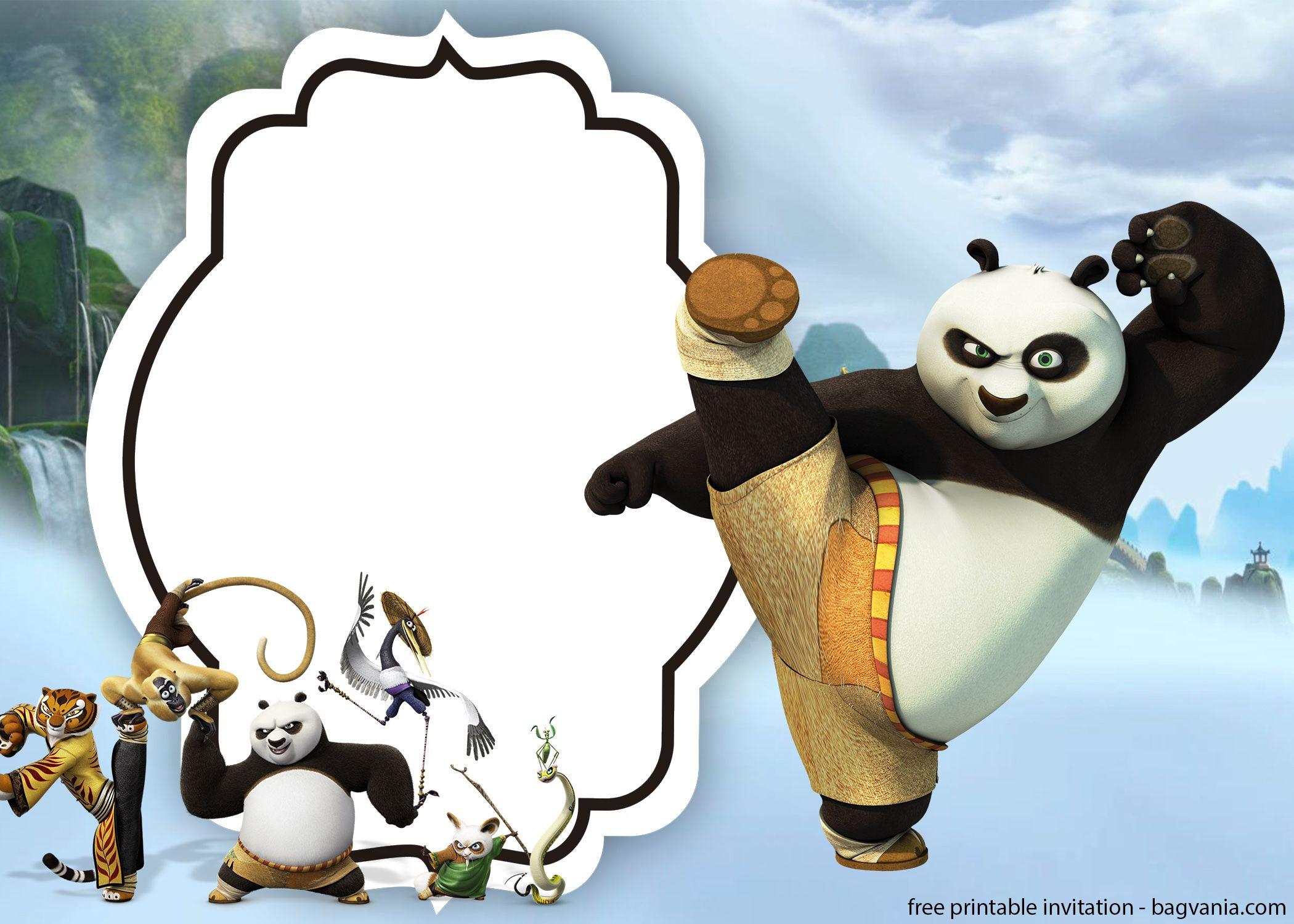 Free Kungfu Panda Invitations Templates   Bagvania Invitation   Free - Panda Bear Invitations Free Printable