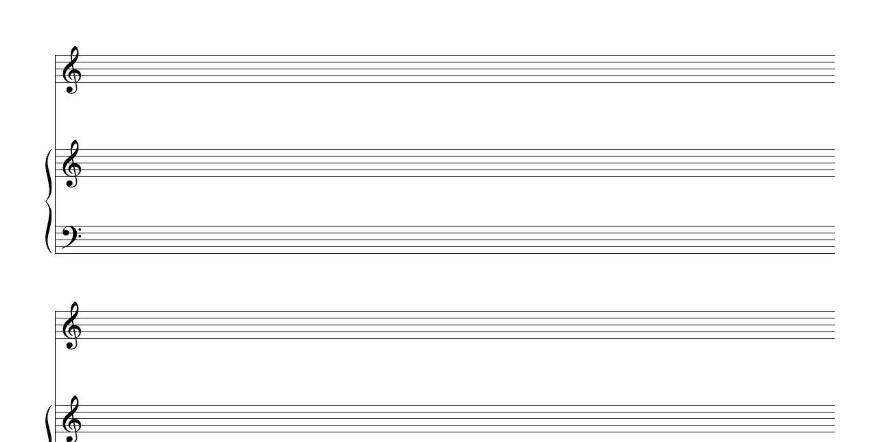 Free Manuscript Blank Piano Vocal Staff Pdf Download - Free Printable Grand Staff Paper