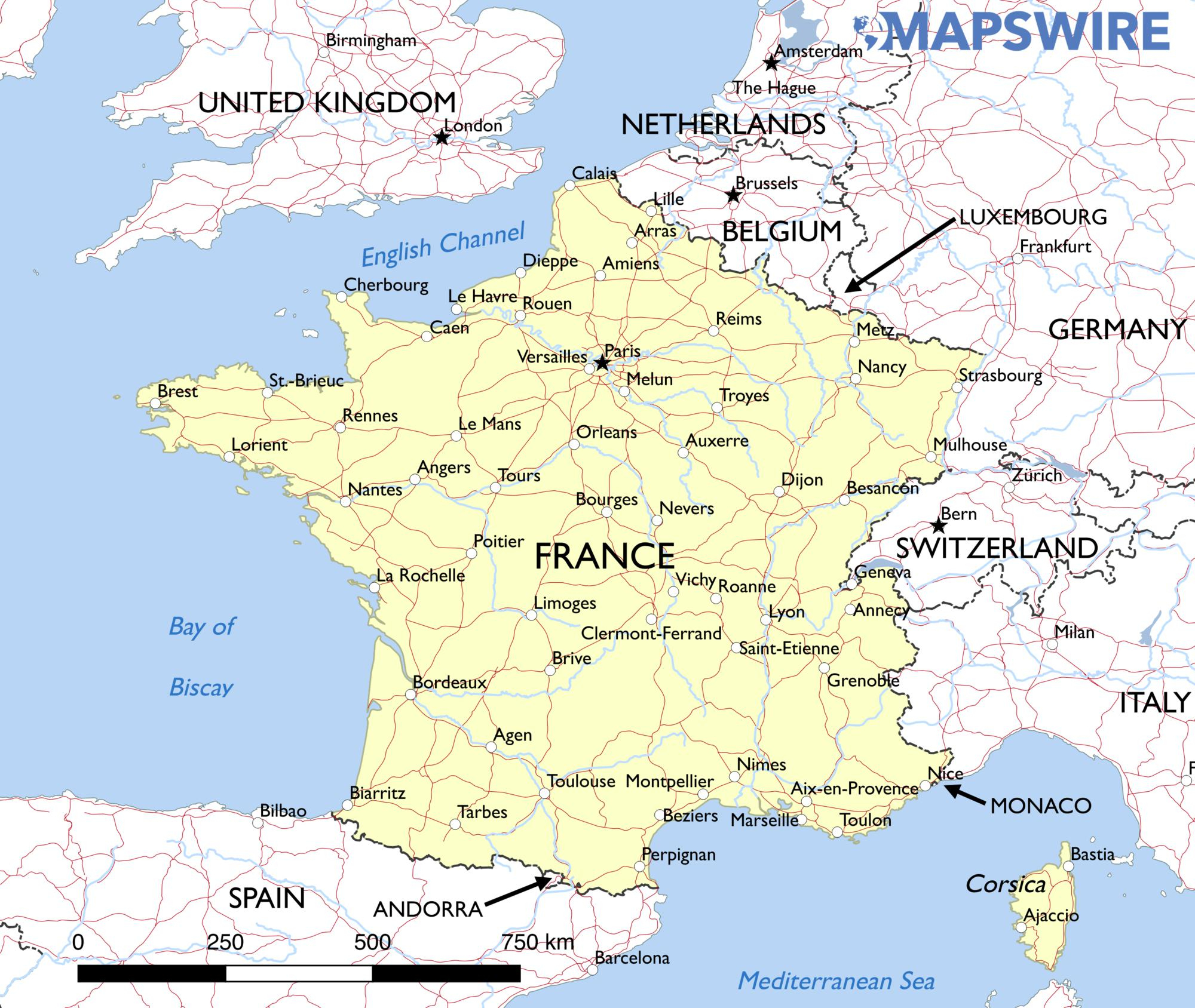 Free Maps Of France – Mapswire - Free Printable Maps