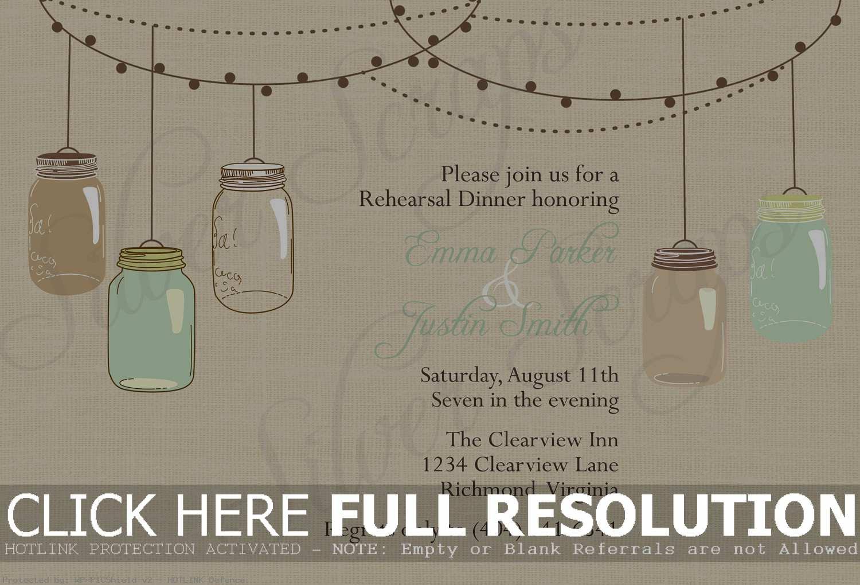 Free Mason Jar Wedding Invitation Printable - Natashamillerweb - Free Mason Jar Wedding Invitation Printable Templates