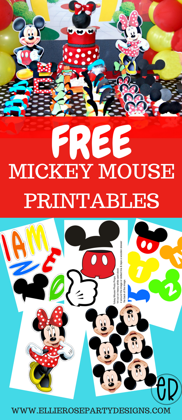 Free Mickey Mouse Printables And Party Ideas. Diy Decorations For - Free Printable Mickey Mouse Decorations