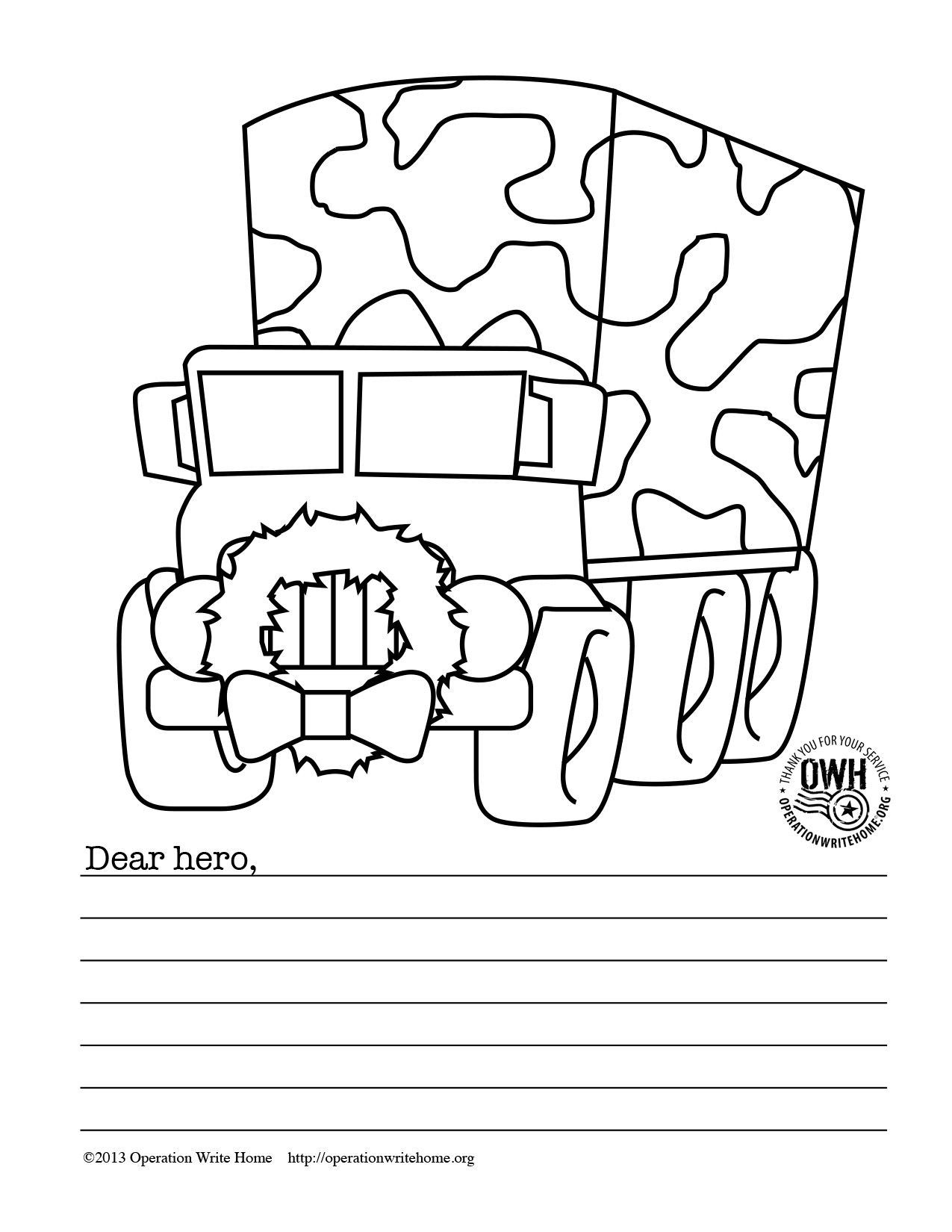 Free Military Coloring Pages For Christmas! | Operation Write Home - Free Printable Christmas Cards To Color