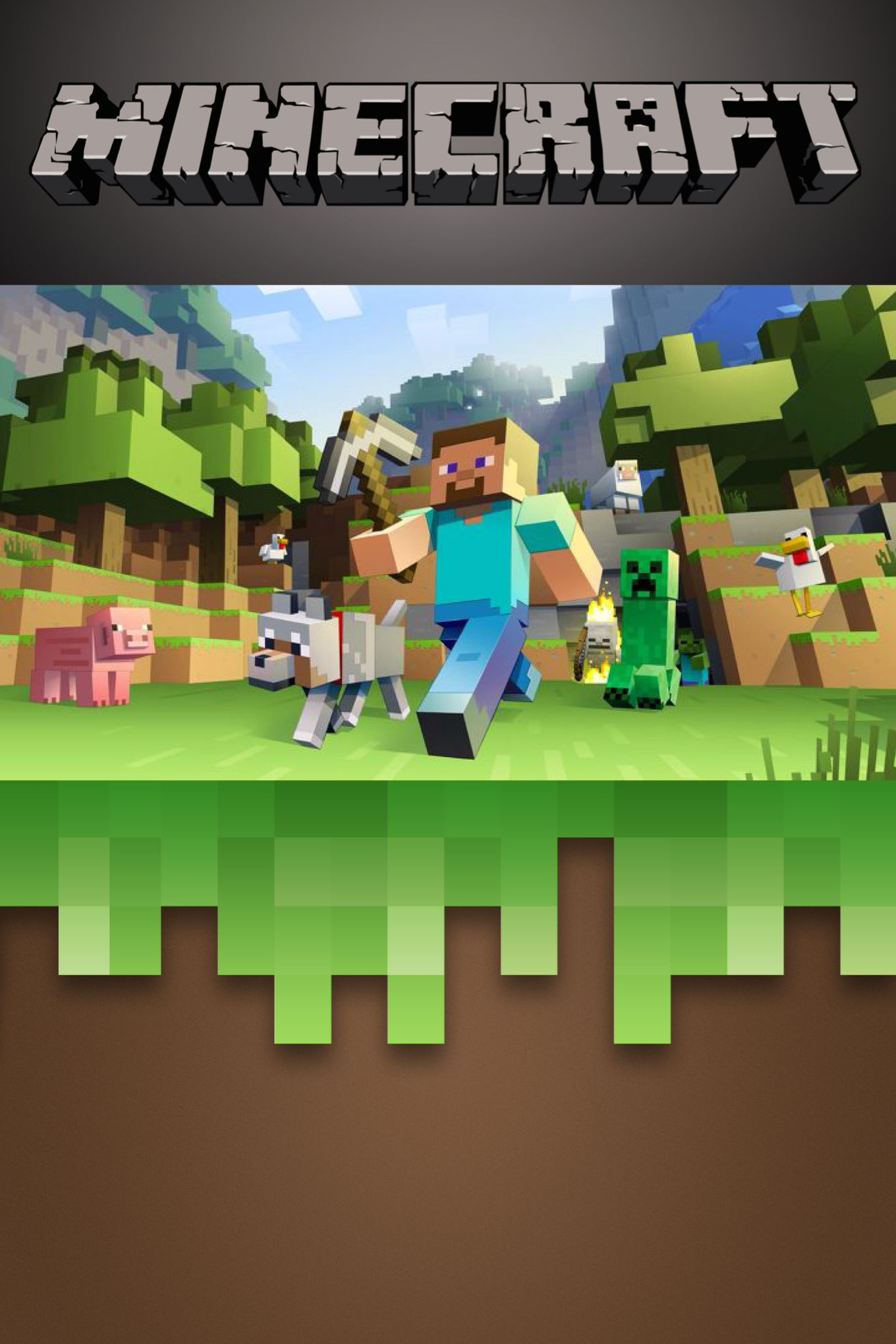 Free Minecraft Invitation Template. Edit On Phonto App, Print As 4X6 - Free Printable Minecraft Birthday Party Invitations Templates