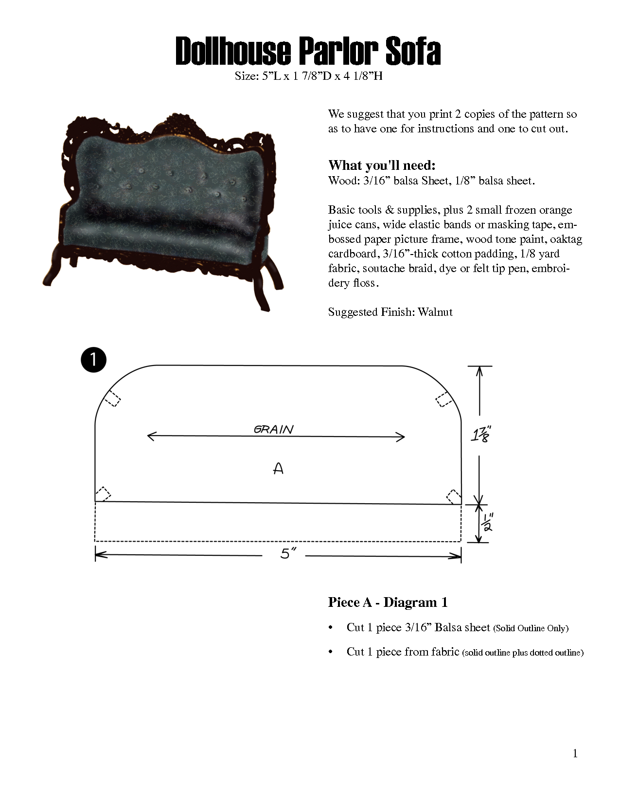 Free Miniature Furniture Patterns - Google Search | Miniatures - Free Printable Dollhouse Furniture Patterns