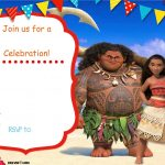 Free Moana Birthday Invitation | Zoey 4Th Birthday | Pinterest   Free Printable Moana Birthday Invitations