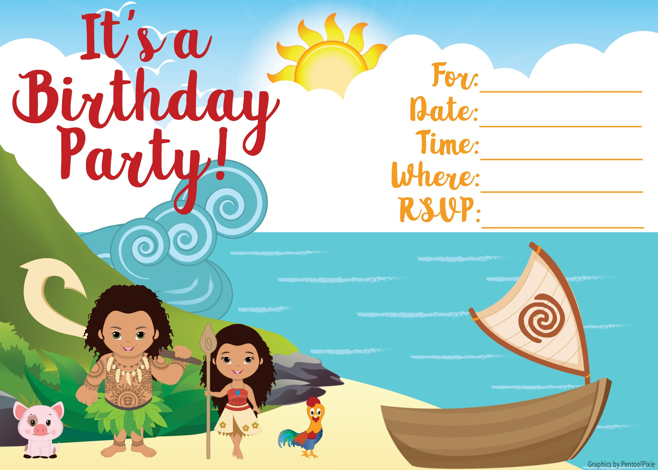 Free Moana Printable Invitations - Joomlaexploit - Free Moana Printable Invitations
