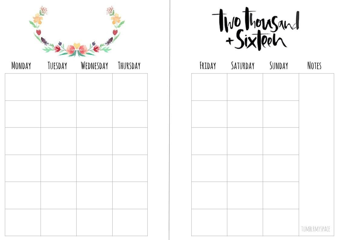 Free Monthly A5 Planner Insert Printables - Download From My Blog - Free Printable Planner Inserts