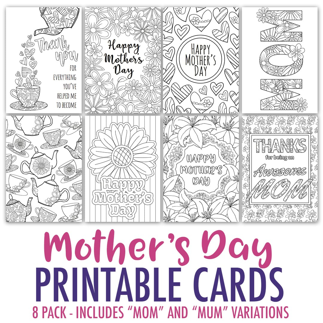 Free Mother's Day Card | Printable Template - Sarah Renae Clark - Free Printable Funny Mother's Day Cards