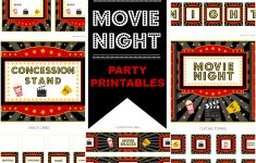 Movie Night Birthday Invitations Free Printable
