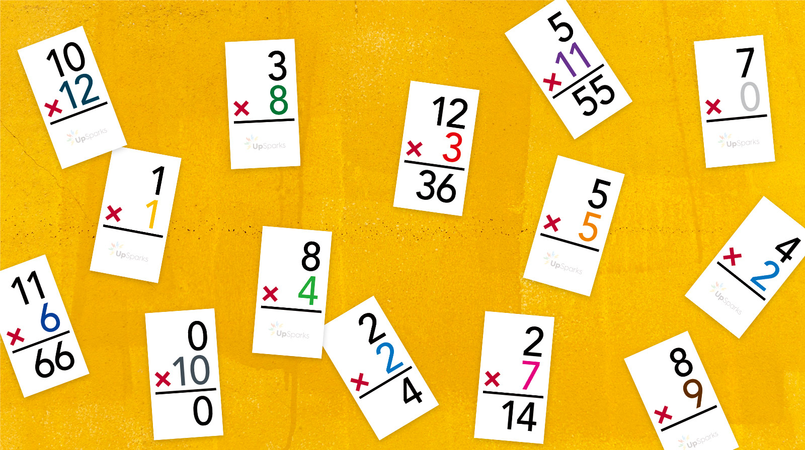 Free Multiplication Flash Cards Printable Sheets From Upsparks - Free Printable Multiplication Flash Cards