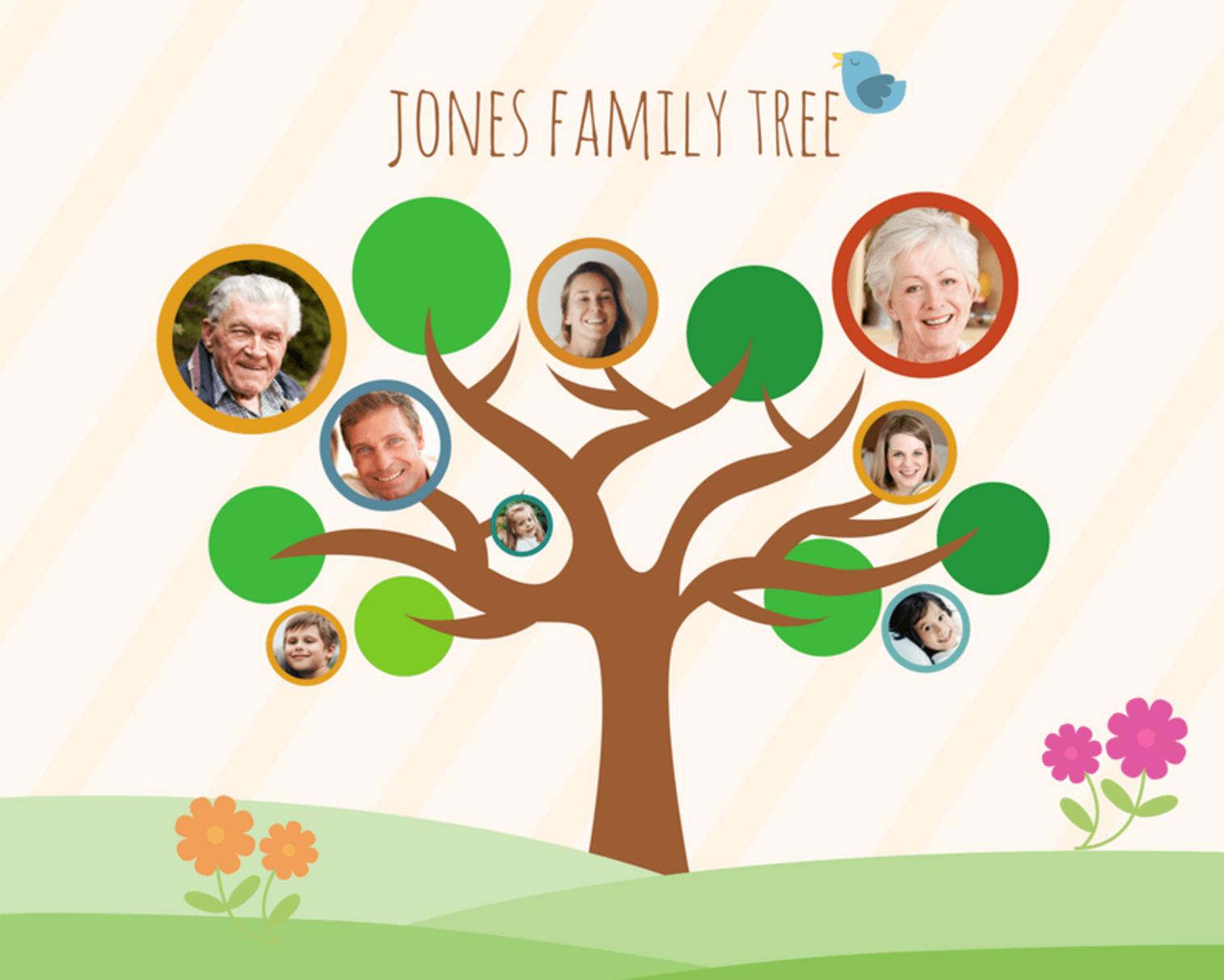 Free Online Family Tree Maker: Design A Custom Family Tree - Canva - Family Tree Maker Online Free Printable