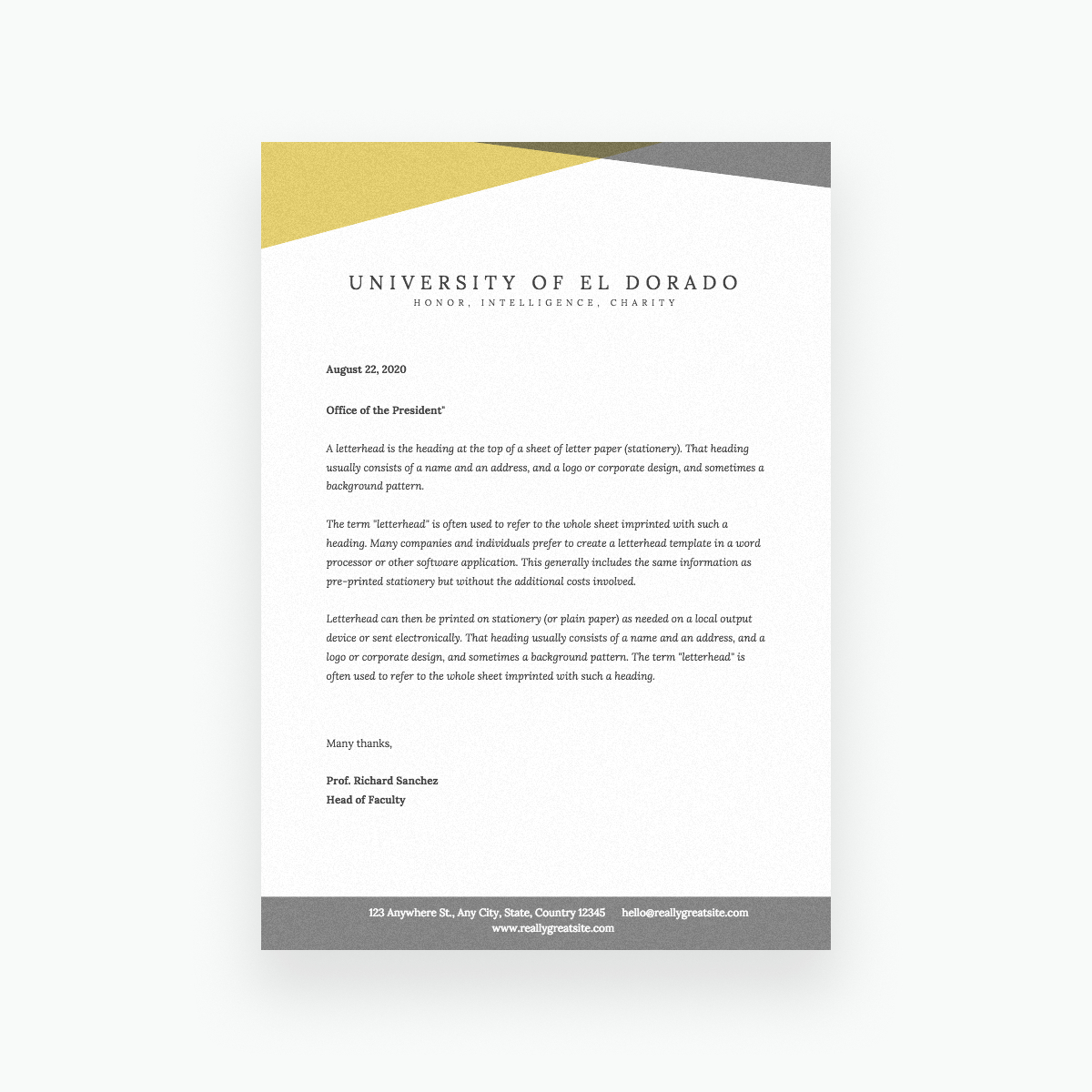 Free Online Letterhead Maker With Stunning Designs - Canva - Free Printable Letterhead Templates