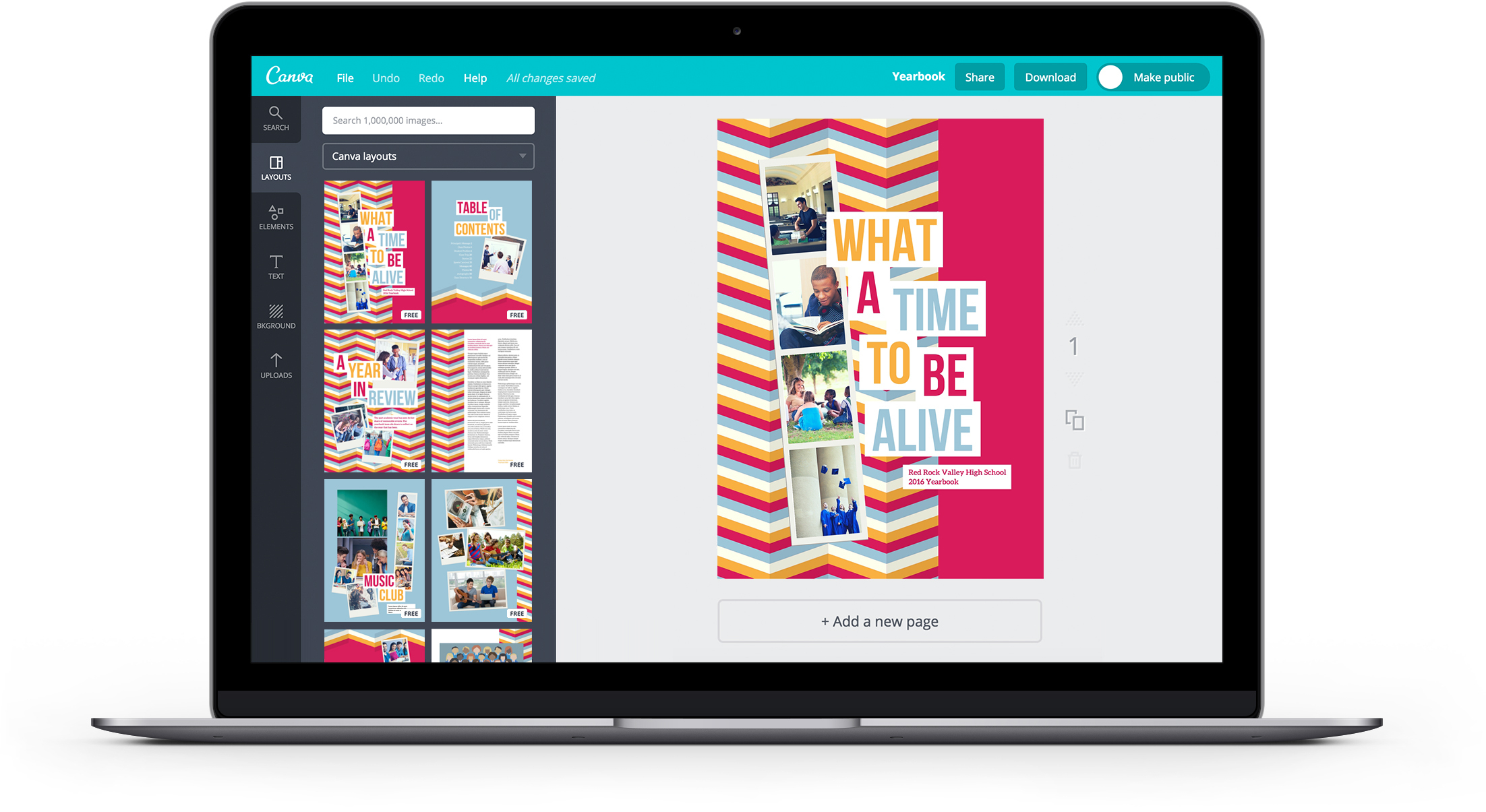 Free Online Yearbook Maker: Design A Custom Yearbook In Canva - Free Printable Yearbook Templates