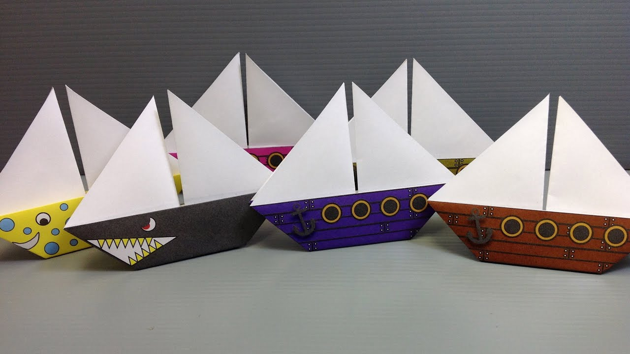 Free Origami Sailboat Paper - Print Your Own! - Pirate And Shark - Free Printable Sailboat Template