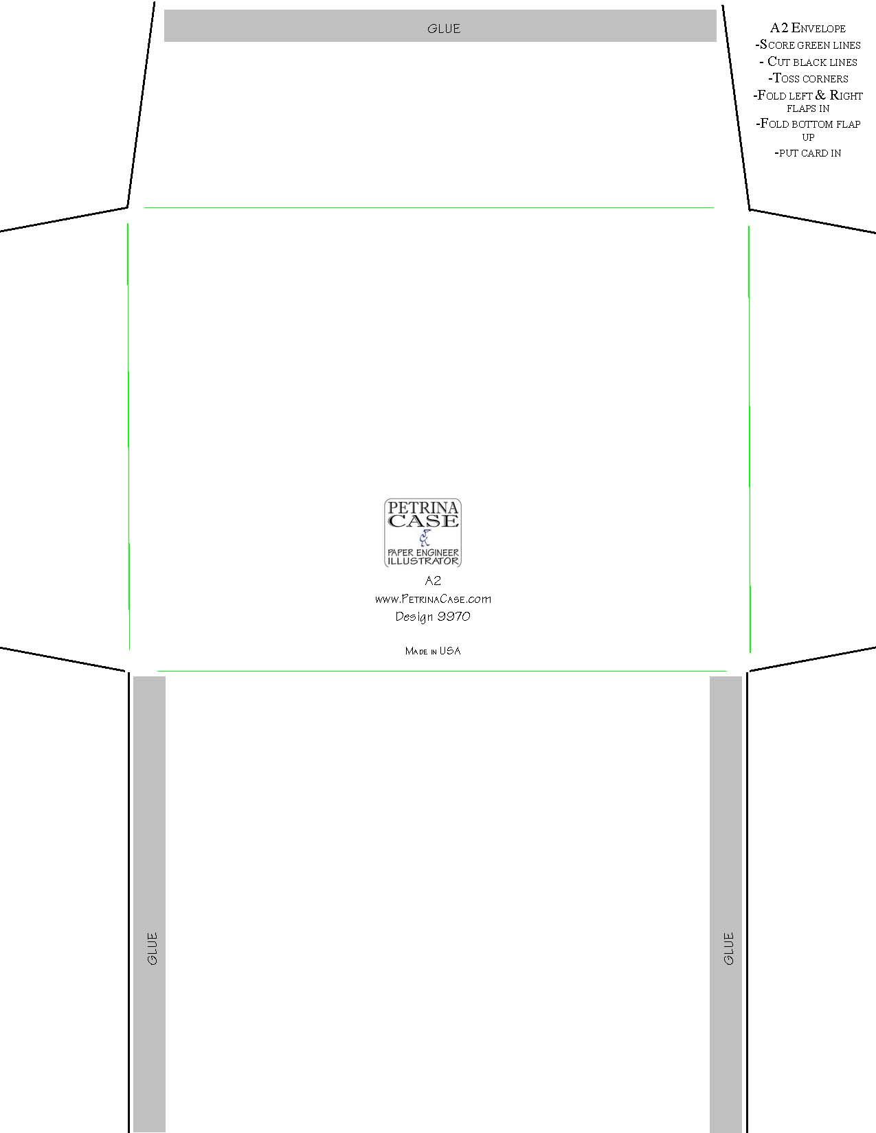 Free Paper Popup Cut Out And Make - Free Printable Greeting Card Envelope Template