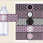 Free Paris Printables | Can't You Just Hear The Accordion Music And   Free Printable Paris Water Bottle Labels